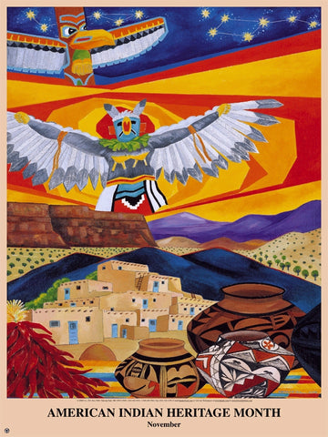 Item# AI01 American Indian Heritage Month by E. Somarriba Poster .(GSA)
