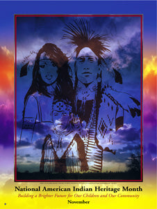 Item# AI05 National American Indian Heritage Month Building a Brighter Future. .(GSA) -  DiversityStore.Com®
