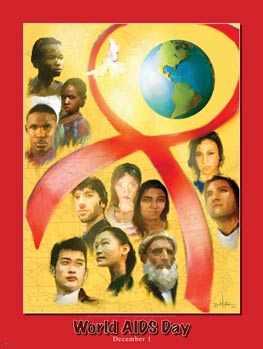 Item: WA World AIDS Day Poster .(GSA) -  DiversityStore.Com®