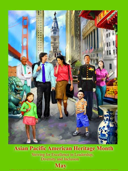 Item# AP12 Asian Pacific American Heritage Month Poster Striving for Excellence ..(GSA) -  DiversityStore.Com®