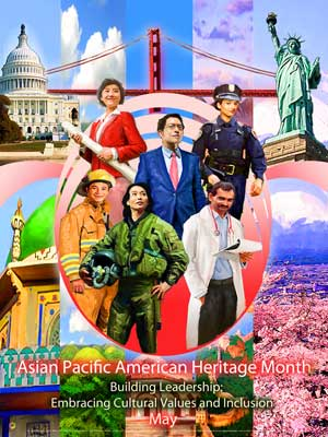 Item# AP13 Asian Pacific American Heritage Month Poster Building Leadership: ..(GSA) -  DiversityStore.Com®