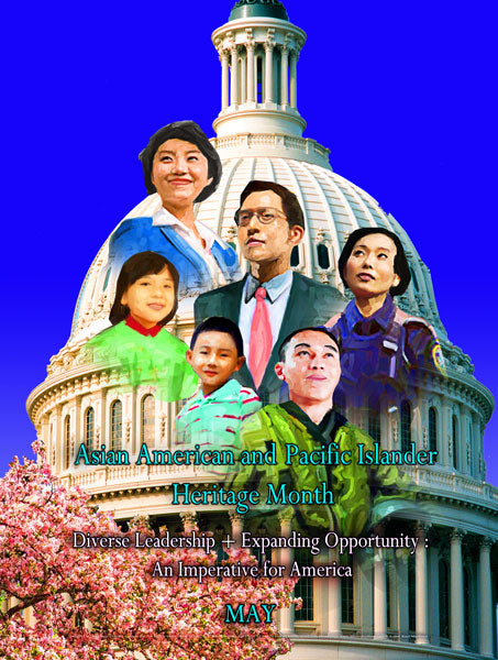 Item# AP14v2 Asian American and Pacific Islander Month Diverse Leadership + Expanding ..V2 ..(GSA) -  DiversityStore.Com®