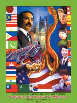 Item# AP52 Asian Pacific American Heritage Month Bridging the Gap Between Our Differences  ..(GSA) -  DiversityStore.Com®