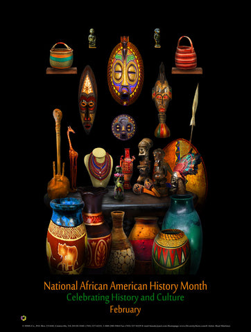 "Item# BHC  Size 24"" x 36""African American History Month Celebrating History and Culture   (GSA) -  DiversityStore.Com®"