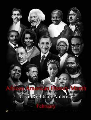 "Item# B14A24X36 (Custom Made 24""x36"") African American History Month.. (OM) -  DiversityStore.Com®"