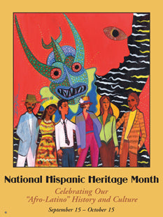 "Item# AL2 Hispanic Heritage Month Celebrating Our ""Afro-Latino"" History and Culture (GSA) -  DiversityStore.Com®"