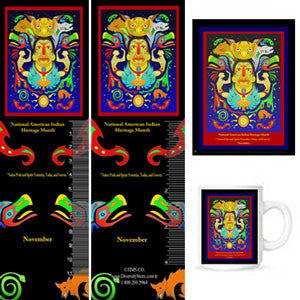 Item# AI14K Buttons, Bookmarks, Magnets, Mugs & 24 by 36 inch posters  ..OM -  DiversityStore.Com®