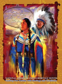 Item# AI07 National American Indian Heritage Month Guiding Our Destiny  .(GSA) -  DiversityStore.Com®