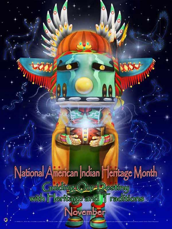 Item# AI13 American Indian Heritage Month Poster ..(GSA) -  DiversityStore.Com®