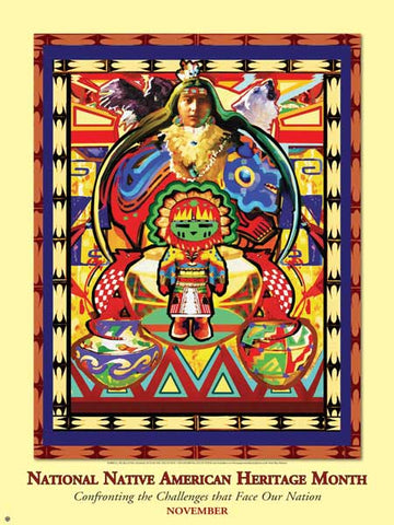 Item:  AI10 Native Americans Heritage Month Poster Confronting the Challenges that Face our Nation .(GSA) -  DiversityStore.Com®