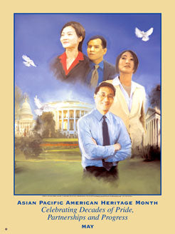 Item# AP6 Asian Pacific American Heritage Month Celebrating Decades of Pride, Partnerships  ..(GSA) -  DiversityStore.Com®