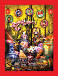 Item# AP1524X36 Custom Made (24X36 Inches) Asian Americans and Pacific Islanders Heritage Month..OM -  DiversityStore.Com®