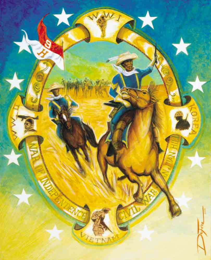 Item# B01 Buffalo Soldiers - Black History Month - Courage Valor and Patriotism (OM)