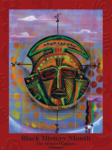 Item#  B5D Black History Month The African Diaspora Poster (GSA)
