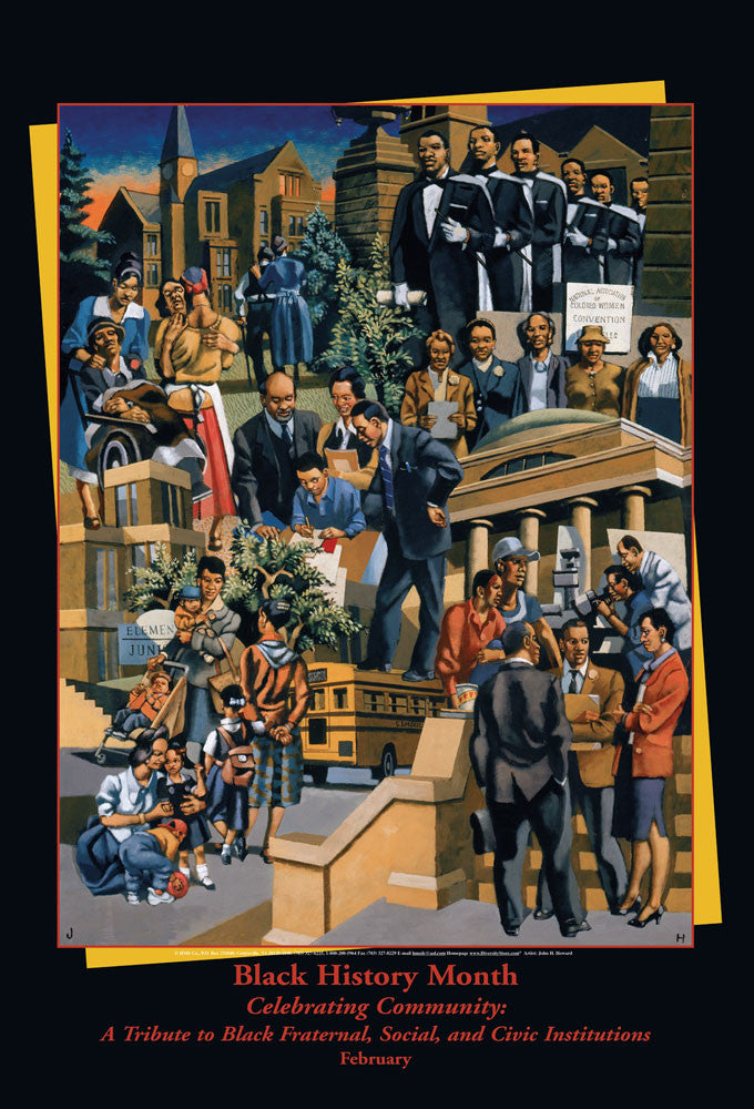 Item# B06 Black History Month Celebrating Community: A Tribute to.... Poster - OM