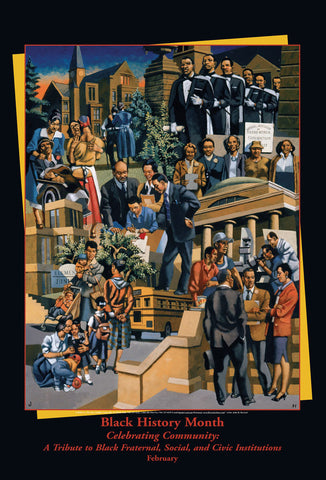 Item# B06 Black History Month Celebrating Community: A Tribute to.... Poster - OM -  DiversityStore.Com®