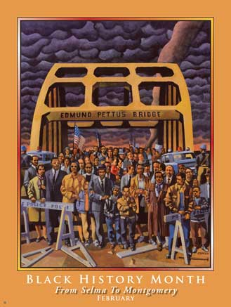 Item# B084 Black History Month From Selma to Montgomery Poster (GSA)