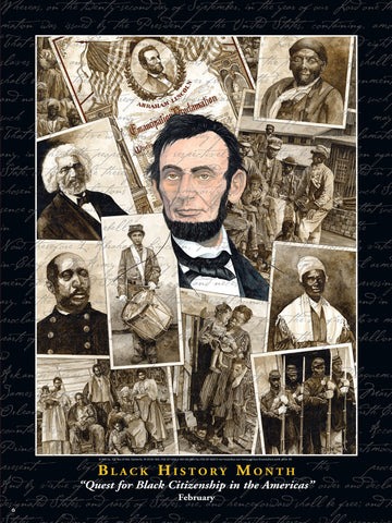 Item# B09 Black History Month Quest for Black Citizenship in the Americas Poster (GSA) -  DiversityStore.Com®