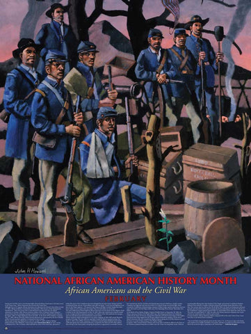 Item# B112 National African American History Month African Americans and the Civil War  .(GSA) -  DiversityStore.Com®