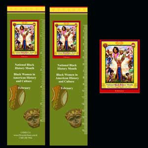 Item# B12B Black History Month Bookmarks, Buttons and Magnets ..OM -  DiversityStore.Com®