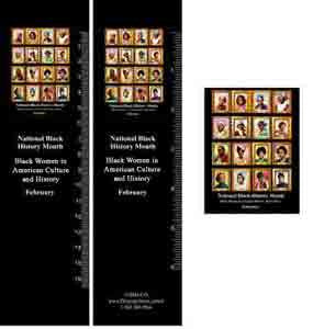 Item# B12AB Black History Month Bookmarks, Buttons and Magnets ..OM -  DiversityStore.Com®