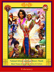 Item# B12 National African American History Month Black Women in American History .(GSA) -  DiversityStore.Com®