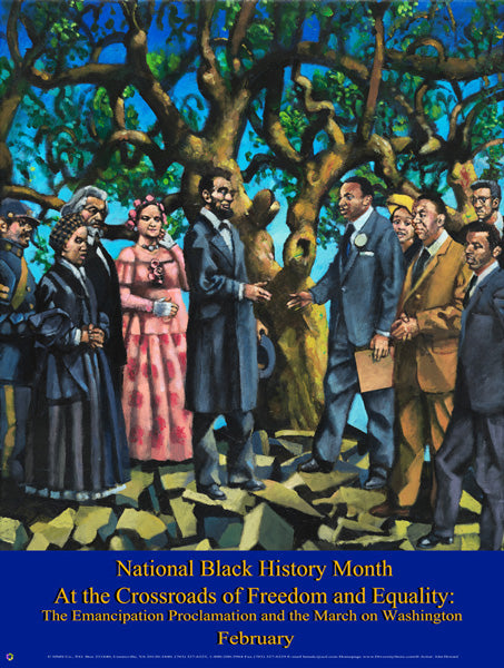 Item# B13A Black History Month At the Crossroads of Freedom and Equality  .(GSA) -  DiversityStore.Com®