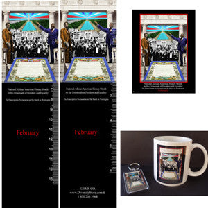 Item# B13K Black History Month Bookmarks, Buttons, Magnets, Mugs & Key Chains ..OM -  DiversityStore.Com®