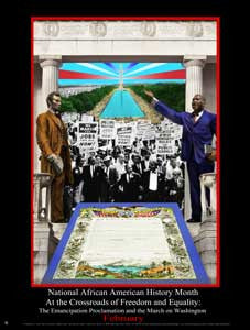 Item# B13 National African American History Month At the Crossroads of Freedom and Equality  .(GSA) -  DiversityStore.Com®
