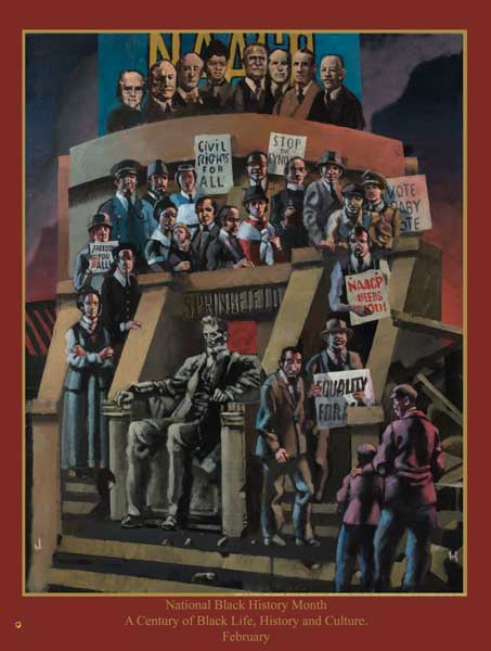Item# B15 National Black History Month A Century of Black Life, History ... NAACP Commemorative  (GSA)
