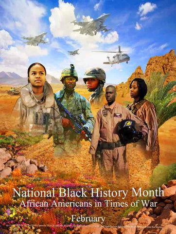 "Item# B1824x36 Black History Month (Custom Made size 24x36"") African Americans in Times of War (OM) -  DiversityStore.Com®"