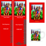 Item# B19AK Bookmarks, Mugs, Buttons and Magnets ..OM -  DiversityStore.Com®