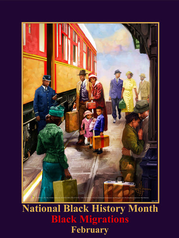 "2019 NEW! Item# B19 (18x24"") National Black History Month Theme: Black Migrations (GSA) -  DiversityStore.Com®"