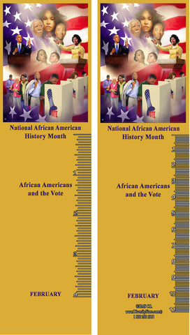Black History Month BOOKMARK SET 36 Item# B20AK36 Bookmarks ..OM -  DiversityStore.Com®