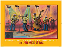 Item# BJ National African American History Month The Living Journey of Jazz Poster (GSA) -  DiversityStore.Com®