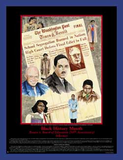 Black History Month Theme Brown v. Board of Education - Historical Poster - GSA