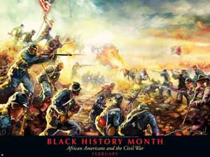 Item# B1124X36  Custom Made Black History Month African Americans and the Civil War -  DiversityStore.Com®