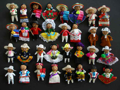 Item# CharroSet Charro Dolls Set - 16 Mexican Regions  .. OM