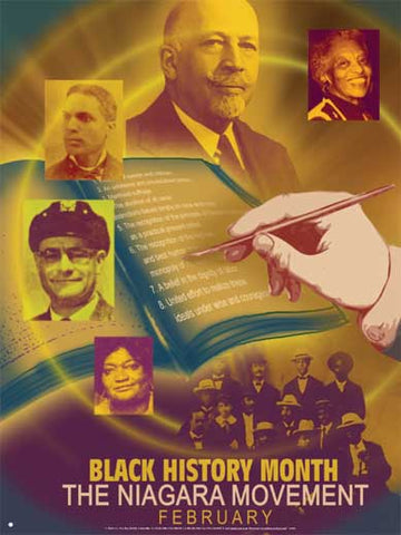 Item# B05 Black History Month Theme The Niagara Movement Poster - OM -  DiversityStore.Com®