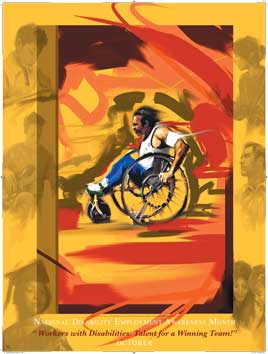 Item# D07 Disability Month - Talent for a Winning Team Poster.(GSA) -  DiversityStore.Com®