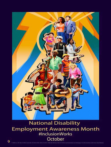 2016 Item: D16 National Disability Employment Awareness Month #InclusionWorks - NDEAM  (GSA) -  DiversityStore.Com®