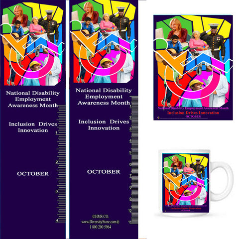 Item# D17K D17 Bookmarks, Buttons, Magnets, Mugs & Key Chains NDEAM 2017 -  DiversityStore.Com®