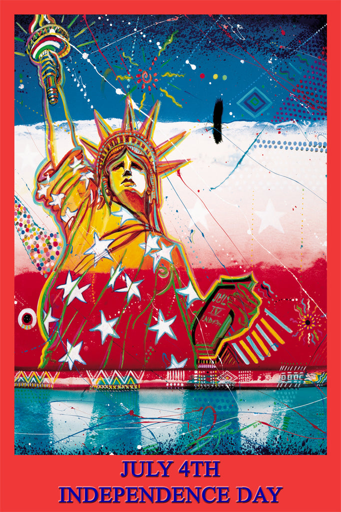 "Item# DV0124X36 Independence Day July 4th Special Edition Size 24x36"" $49.95 Custom Made -  DiversityStore.Com®"