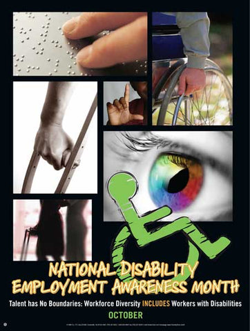 Item# D10 Disability Employment Awareness Month - Talent has No Boundaries..(GSA) -  DiversityStore.Com®