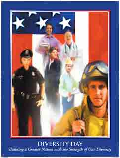 Item# DV07 Diversity Day Building a Greater Nation With the Strength of Our Diversity Poster..(GSA)