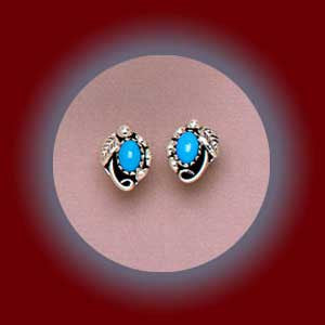 Turquoise Navajo Earrings(Small)