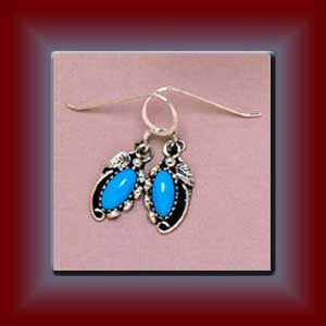 Turquoise Navajo Earrings (Med)