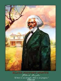 Item# BFDK Black History Month Frederick Douglass -If there is no struggle there is no progress ..OM -  DiversityStore.Com®