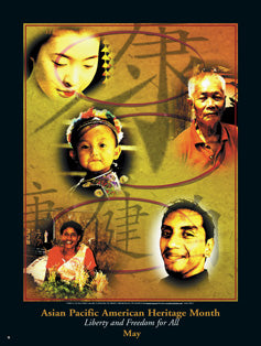 Item# AP5 Asian Pacific American Heritage Month Liberty and Freedom for All Poster..OM -  DiversityStore.Com®
