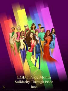 Item# GL16 LGBT Pride Month - Solidarity Through Pride ..(GSA) -  DiversityStore.Com®